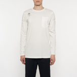 Мужской лонгслив Stone Island Shadow Project Catch Pocket Digital Prints Off White фото- 7