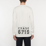 Мужской лонгслив Stone Island Shadow Project Catch Pocket Digital Prints Off White фото- 8