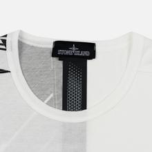 Мужской лонгслив Stone Island Shadow Project Mako Cotton Jersey Garment Dyed Pocket Natural White фото- 1