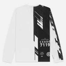 Мужской лонгслив Stone Island Shadow Project Mako Cotton Jersey Garment Dyed Pocket Natural White фото- 4
