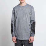 Мужской лонгслив Stone Island Shadow Project Marbled Effect Navy фото- 6