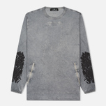 Мужской лонгслив Stone Island Shadow Project Marbled Effect Navy фото- 0