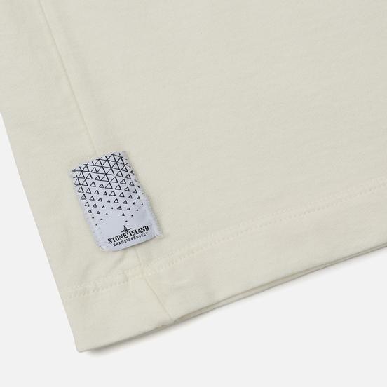 Мужской лонгслив Stone Island Shadow Project Printed Catch Pocket 1 Natural White