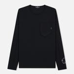 Мужской лонгслив Stone Island Shadow Project Printed Catch Pocket Garment Dyed Black фото- 0