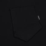 Мужской лонгслив Stone Island Shadow Project Printed Catch Pocket Garment Dyed Black фото- 2