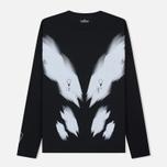 Мужской лонгслив Stone Island Shadow Project Printed Catch Pocket Garment Dyed Black фото- 4