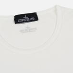 Мужской лонгслив Stone Island Shadow Project Printed Catch Pocket Garment Dyed Natural White фото- 1