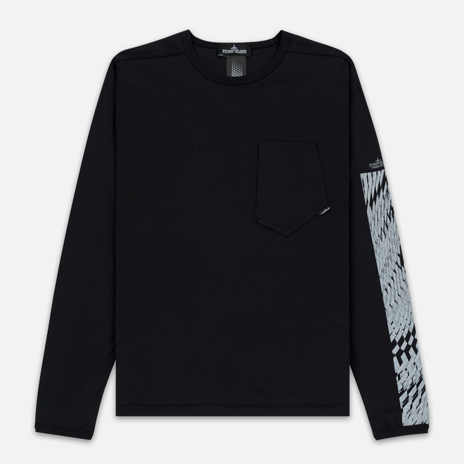Мужской лонгслив Stone Island Shadow Project Printed CXADO 7119 Black