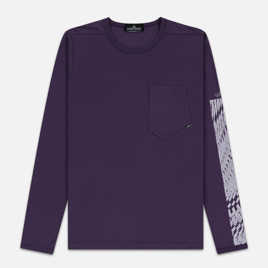 Мужской лонгслив Stone Island Shadow Project Printed CXADO 7119 Indigo