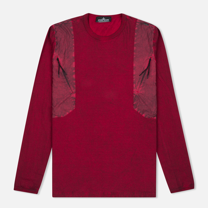 Мужской лонгслив Stone Island Shadow Project Tactical Maroon