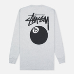 Мужской лонгслив Stussy 8 Ball Grey Heather фото- 4