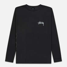 Мужской лонгслив Stussy 8 Ball Stack Pigment Dyed Black фото- 0