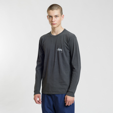 Мужской лонгслив Stussy 8 Ball Stack Pigment Dyed Black фото- 1