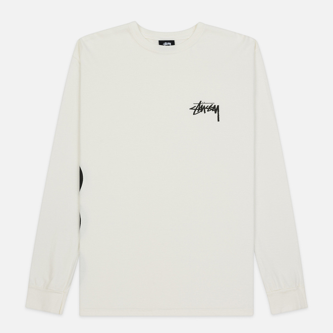 Мужской лонгслив Stussy 8 Ball Stack Pigment Dyed Natural