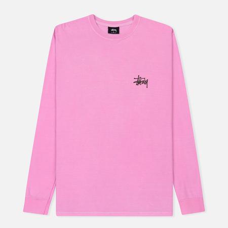 Мужской лонгслив Stussy Basic Stussy Printed Logo Pink