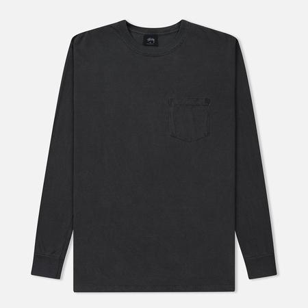 Мужской лонгслив Stussy Camo Stock Pigment Dyed Pocket Black