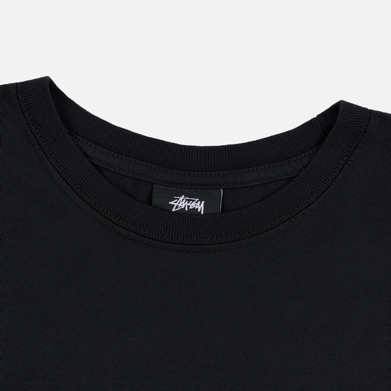 Мужской лонгслив Stussy Dice Pigment Dyed Black