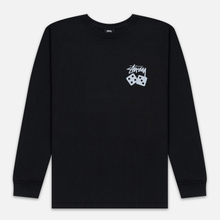 Мужской лонгслив Stussy Dice Pigment Dyed Black фото- 0