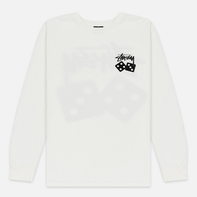 Мужской лонгслив Stussy Dice Pigment Dyed Natural