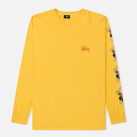 Мужской лонгслив Stussy Dolls Pigment Dyed Gold