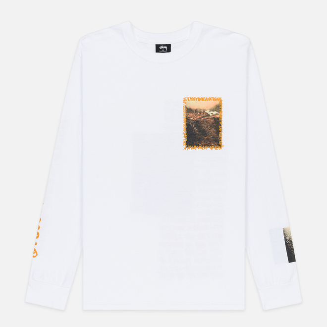 Мужской лонгслив Stussy Great Outdoors White