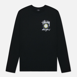 Мужской лонгслив Stussy High Desert Pigment Dyed Black