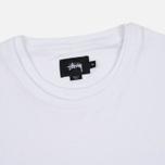 Мужской лонгслив Stussy O'Dyed Double LS White фото- 1