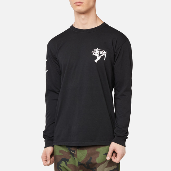Мужской лонгслив Stussy One Love Pigment Dyed Black