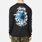 Мужской лонгслив Stussy One Love Pigment Dyed Black фото - 3