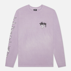 Мужской лонгслив Stussy One Love Pigment Dyed Lavender