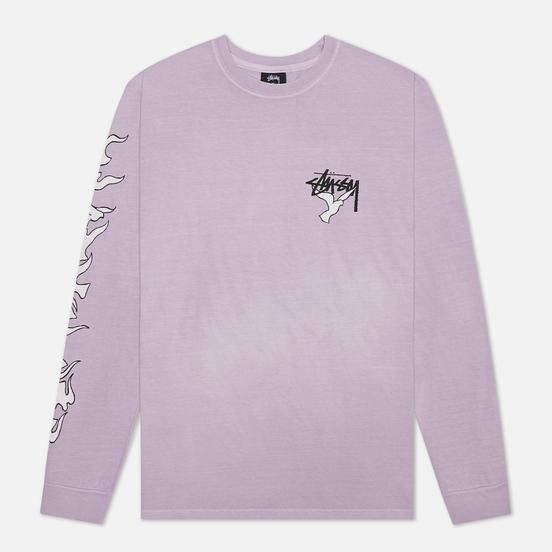 Мужской лонгслив Stussy One Love Pigment Dyed Lavender