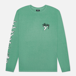 Мужской лонгслив Stussy One Love Pigment Dyed Moss