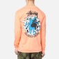 Мужской лонгслив Stussy One Love Pigment Dyed Neon Orange фото - 3