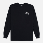 Мужской лонгслив Stussy Original Stock Black фото- 0