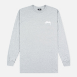 Мужской лонгслив Stussy Original Stock Grey Heather фото- 0
