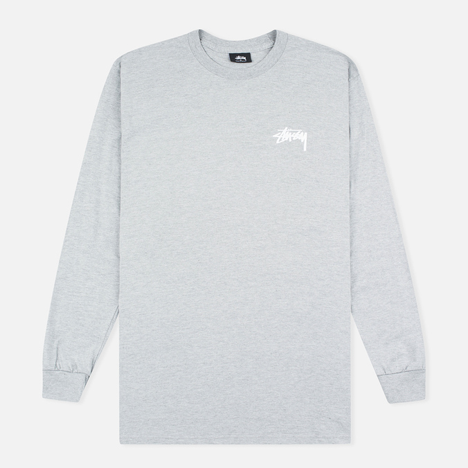Мужской лонгслив Stussy Original Stock Grey Heather