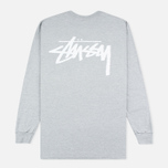 Мужской лонгслив Stussy Original Stock Grey Heather фото- 4