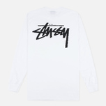 Мужской лонгслив Stussy Original Stock White фото- 4
