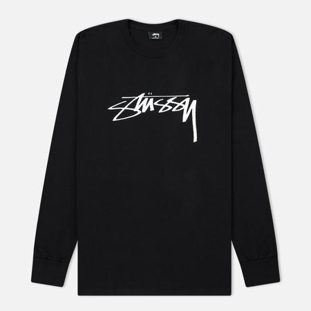 Мужской лонгслив Stussy Smooth Stock Printed Logo Black