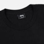 Мужской лонгслив Stussy Smooth Stock Printed Logo Black фото- 1