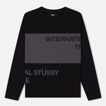 Мужской лонгслив Stussy Split Panel Jersey Black фото- 0