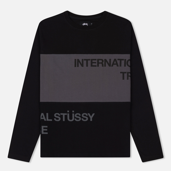 Мужской лонгслив Stussy Split Panel Jersey Black