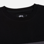 Мужской лонгслив Stussy Split Panel Jersey Black фото- 1