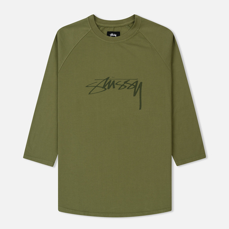 Мужской лонгслив Stussy Stock LS Raglan Jersey Olive