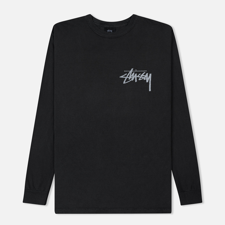 Мужской лонгслив Stussy Stock Pigment Dyed Black