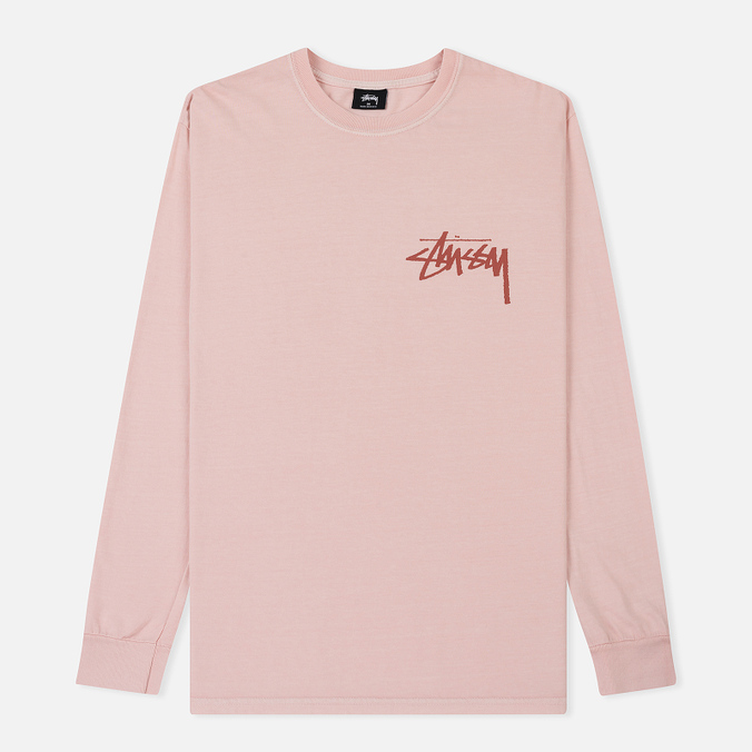 Мужской лонгслив Stussy Stock Pigment Dyed Blush