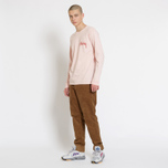 Мужской лонгслив Stussy Stock Pigment Dyed Blush фото- 6