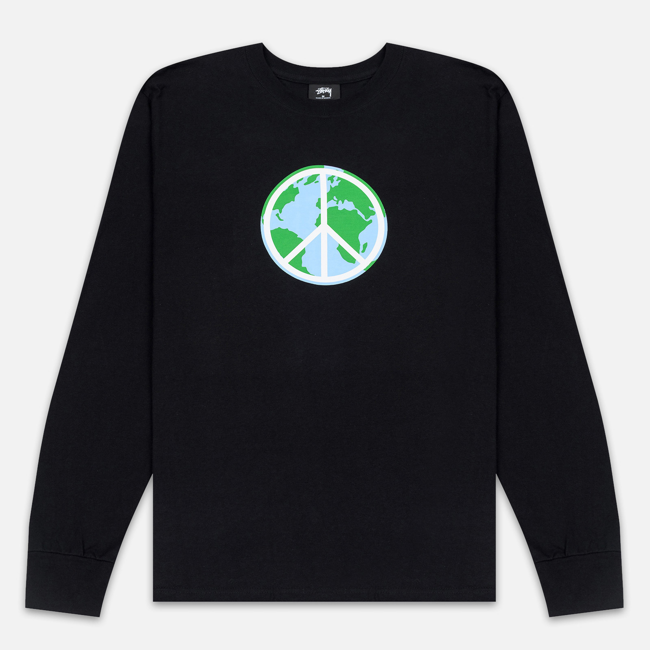 Мужской лонгслив Stussy World Peace Black