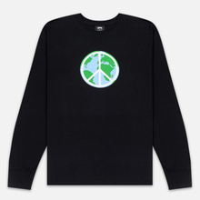 Мужской лонгслив Stussy World Peace Black фото- 0