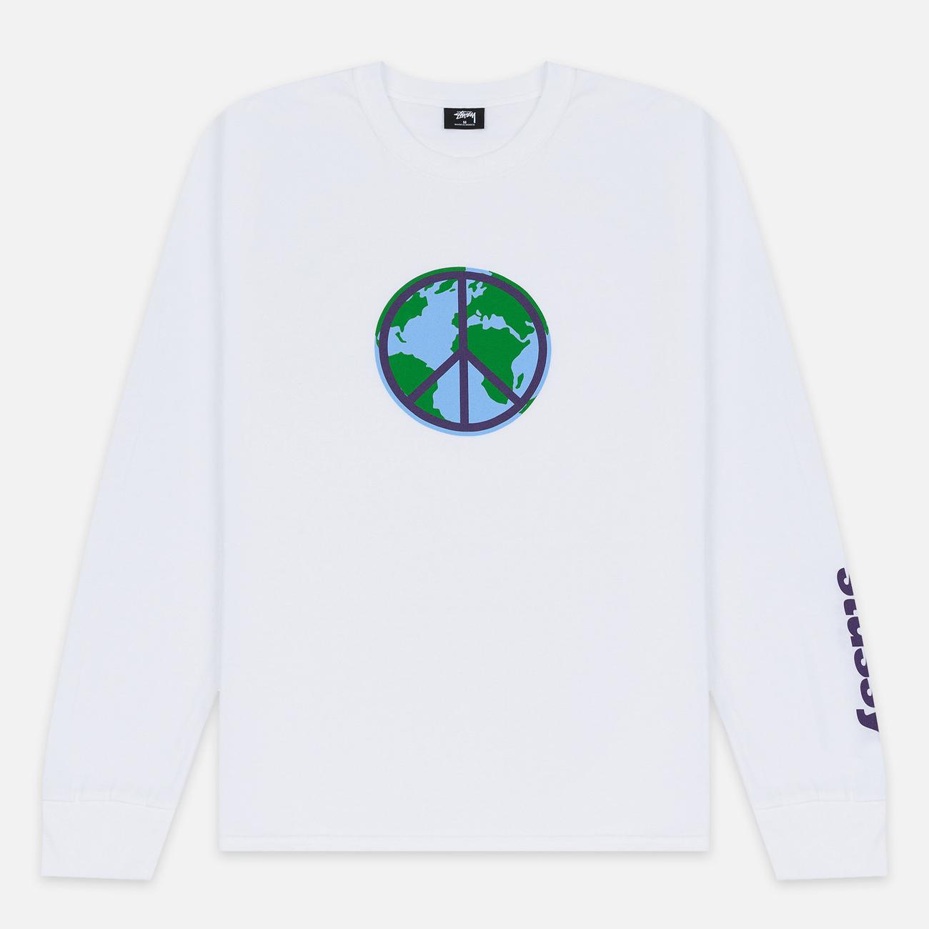Мужской лонгслив Stussy World Peace White
